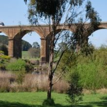 Railway viaducts view from the Malmsbury Botanic Gardens